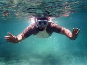 Diving into the blue Mediterranean Sea