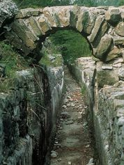 The rests of the 1st century Roman aqueducts