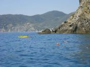 Swim path in the Cinque Terre MPA