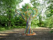 Artwork in the Art Park of Mantua: The Joy Tree