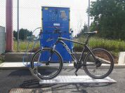 Public bicycle washing machine