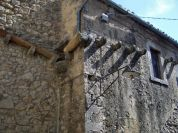 Detail of a building in Civitella del Lago