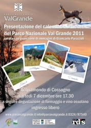 Presentation of the Calendar 2011 of Val Grande National Park