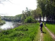 By bike in Lanca di San Michele Nature Reserve, in Carignano