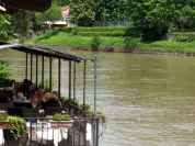 Restaurant along the river Po near Valentino Castle