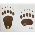 Sticker bear footprints