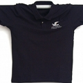 Polo t-shirt, dark blue cotton, with embroidered National Park's seagull.