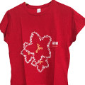 Women's T-shirt, red colour - Dolomiti Bellunesi National Park