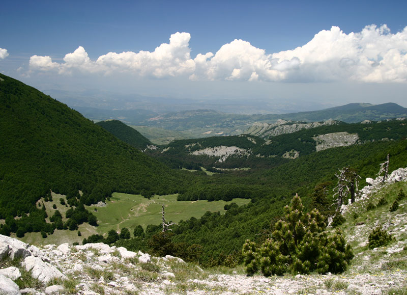 Piano di Gaudolino from Mt. Pollino