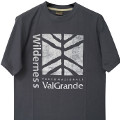 T-shirt E-cotton gris foncé Parc National Val Grande