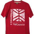 E-cotton T-shirt, red, Val Grande National Park