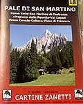 Cartina Zanetti n. 18 - Pale di San Martino