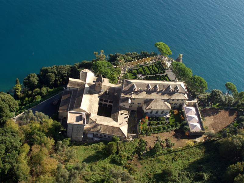 Cervara from the helicopter