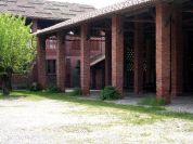 Courtyard and bridge house of Cascina Casone