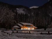 Lagdei Mountain Hut, Winter Night - Rifugio Lagdei