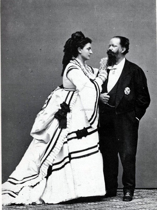 Vittorio Emanuele II and Rosa Vercellana, about 1865