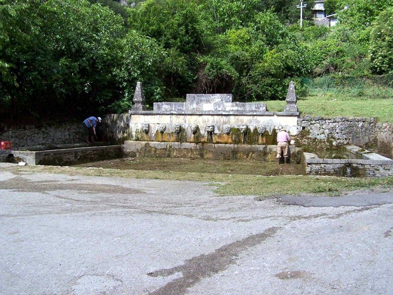Ancient Roman fountain