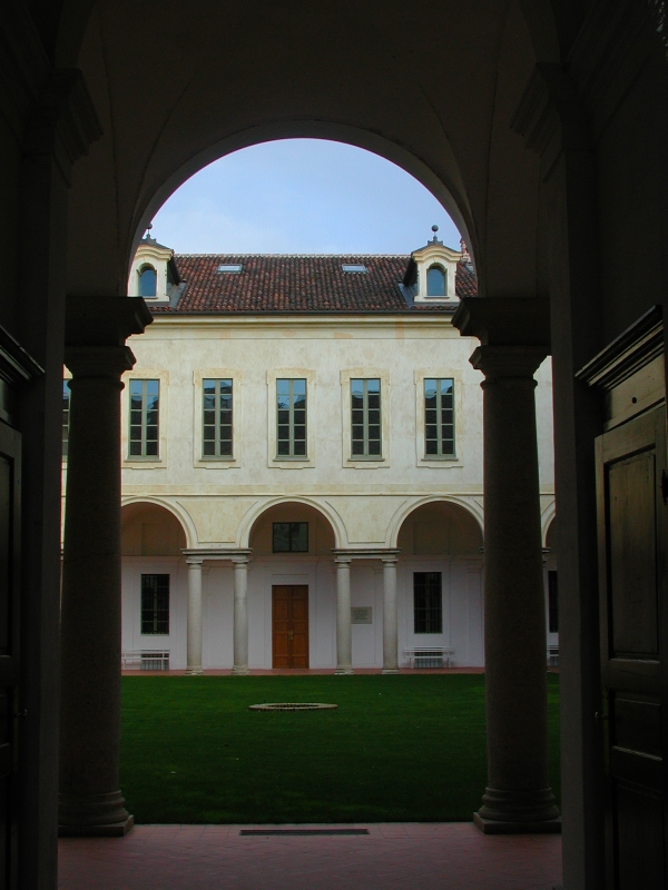 Cloister of Casanova Abbey in Carmagnola