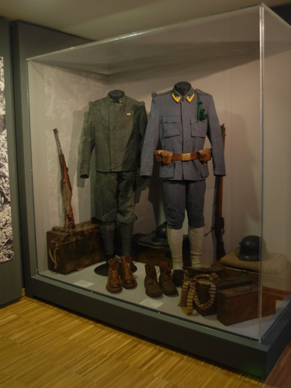 Vermiglio White War Museum. Display case