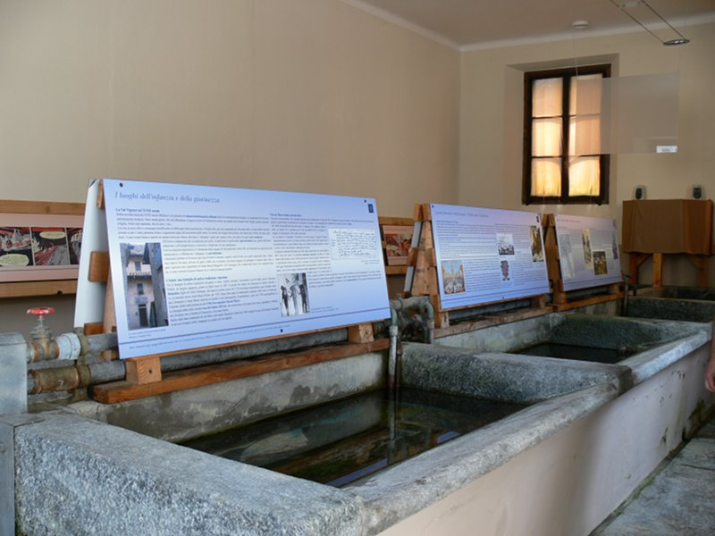 Ancient washhouse with exhibit dedicated to Giovan Maria Salati in Malesco