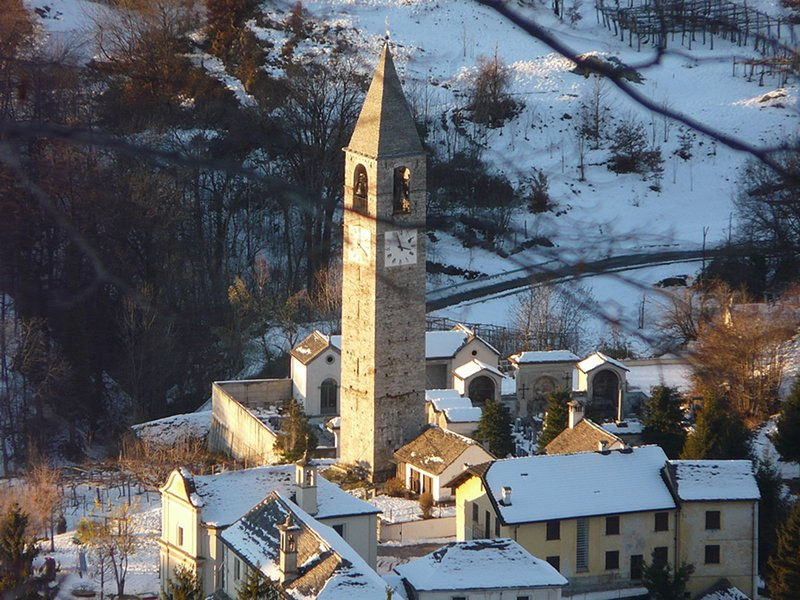 Parish Church and bell tower in Trontano