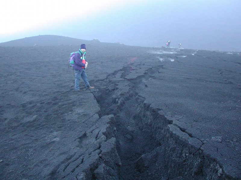 Fracture on Etna