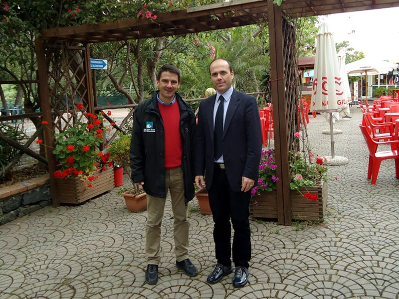 The Park Director Ettore Lombardo with the President of Francavilla di Sicilia Council Alessandro Vaccaro