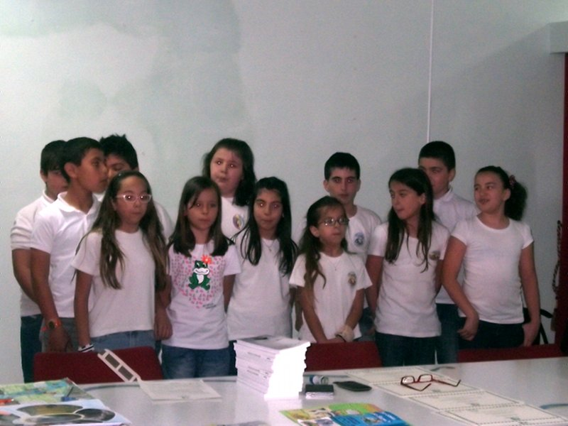 Contest The Value of Water: the pupils of the school from Calatabiano during the presentation of the works