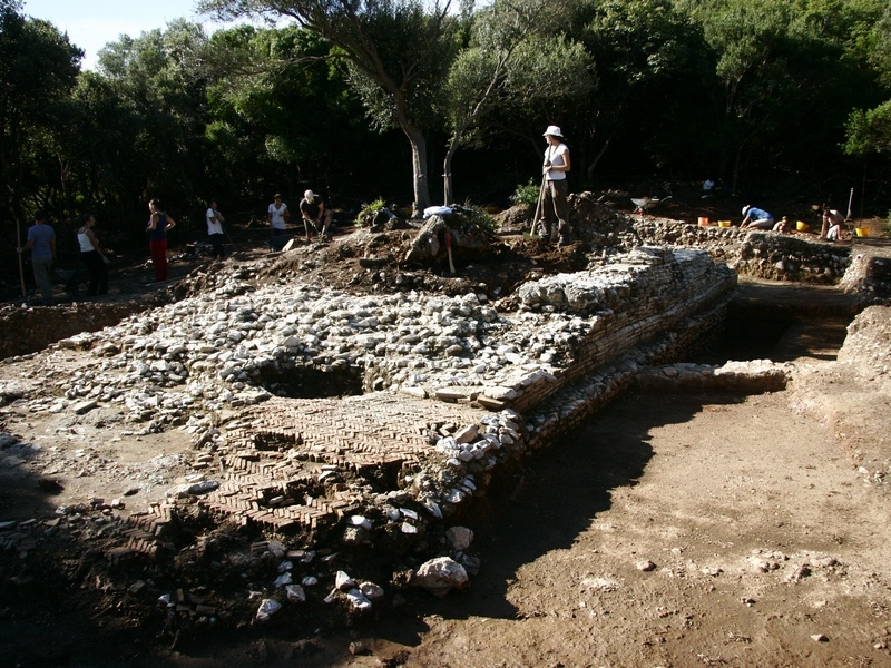 Archaeological excavations of a Roman Temple