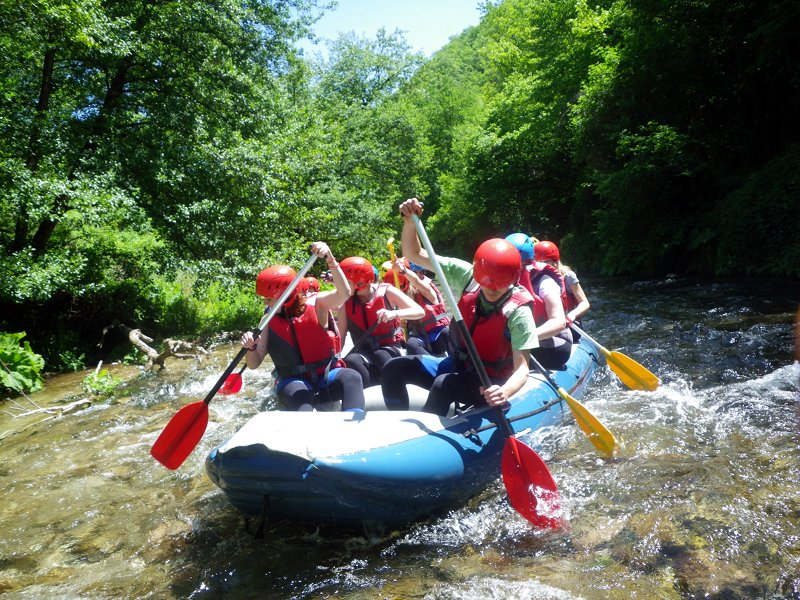 Rafting nel Parco