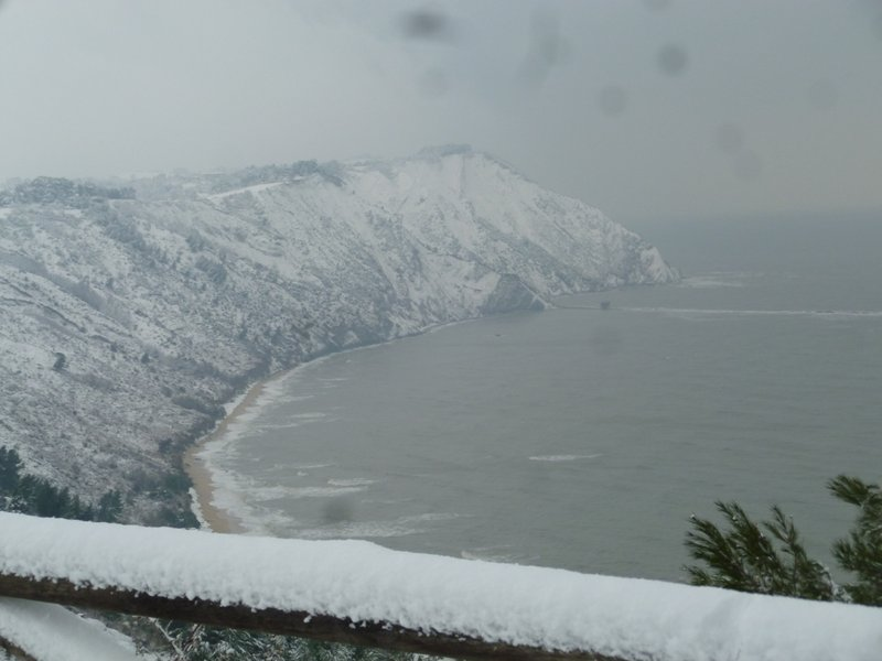 Winter view from the panoramic viewpoint of Portonovo