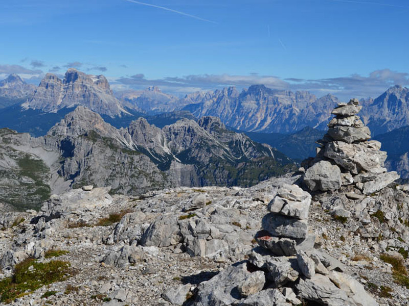 Panorama from Mount Schiara's summit