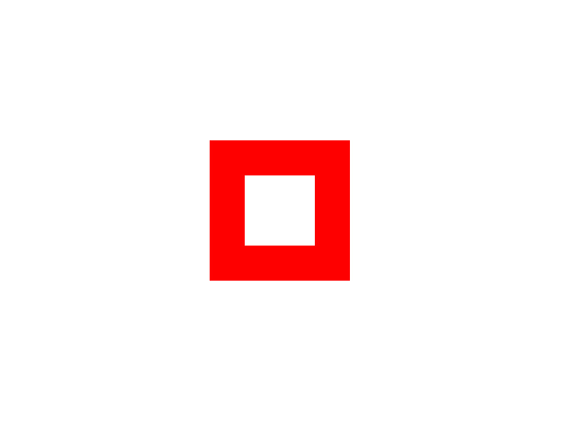 Trail marker: itinerary Fabbriche - Faiallo Pass - Mount Reixa (empty red square)
