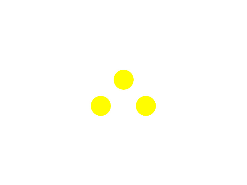 Trail marker: itinerary Loc. Veirera - Cascina Majulla (three yellow balls)