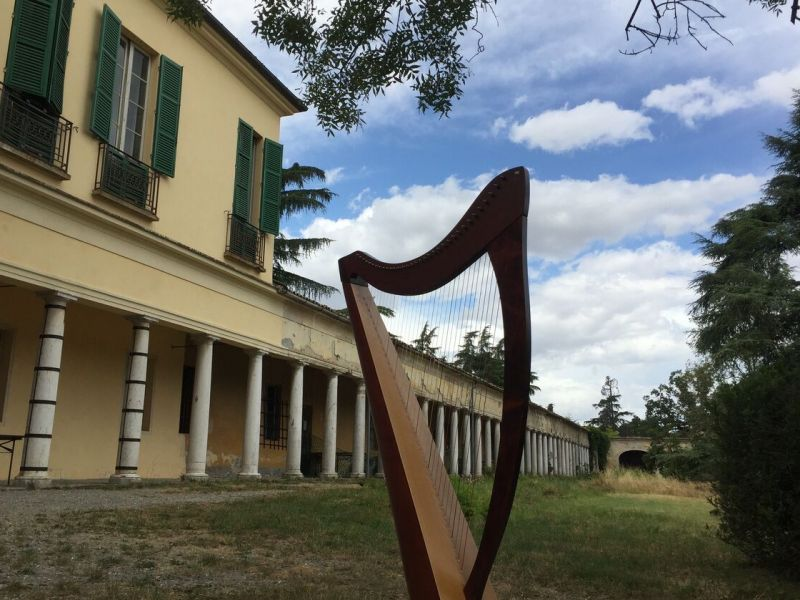 Centro parco Casinetto con Arpa in primo piano