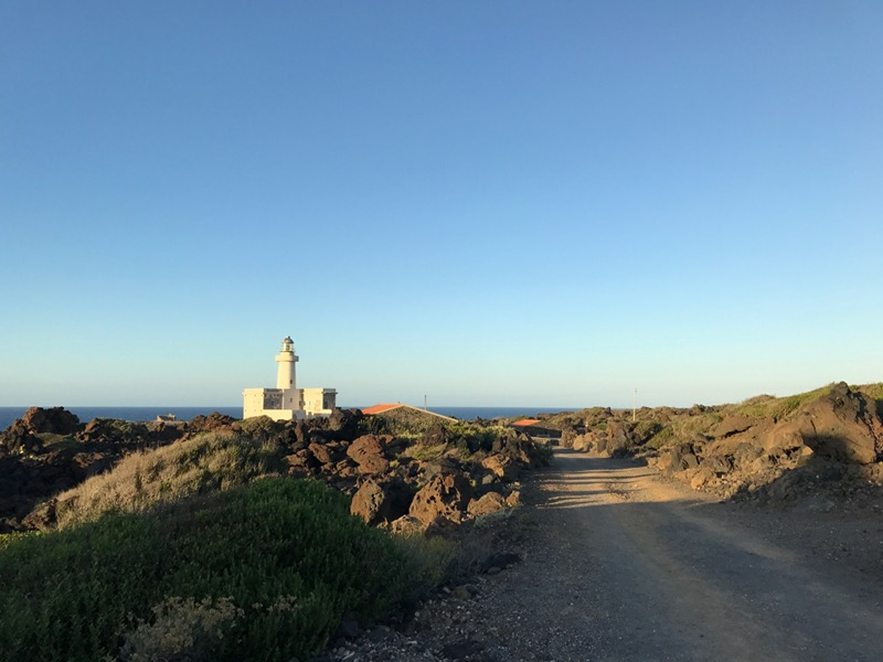 Punta Spadillo and the lighthouse