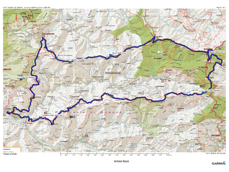 Antola Bike Race 2019 - cartografia
