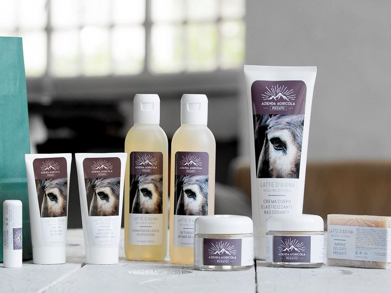 Cosmetics made up of donkey milk