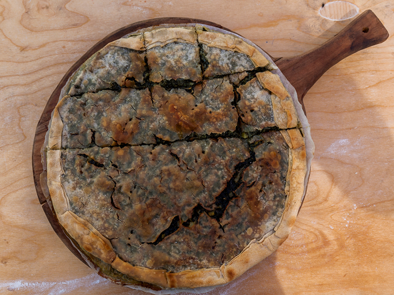 Salty cake with herbs of Lunigiana